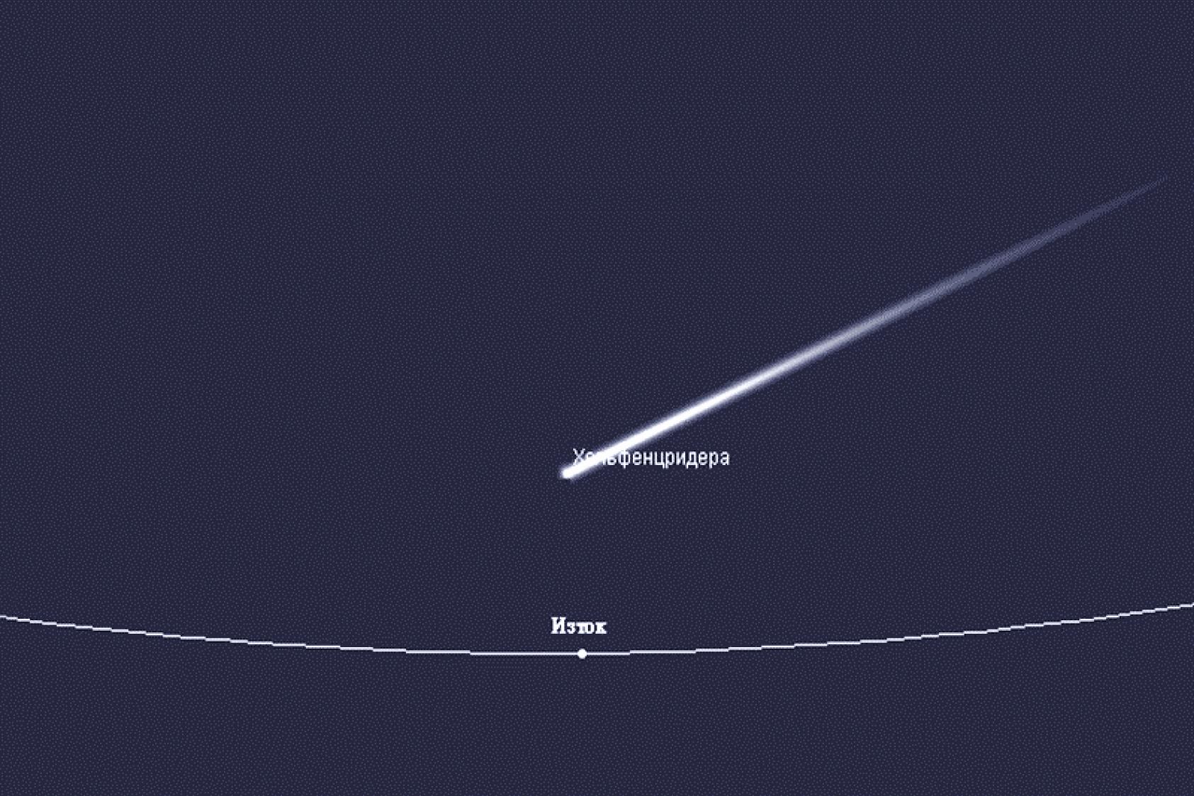 Летописите за Гайна и кометата