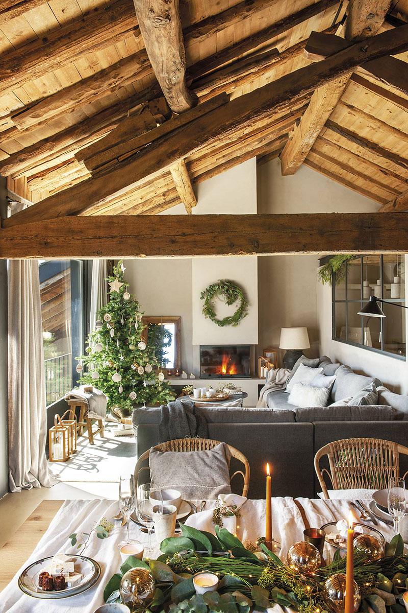 Kрасив интериор на селска къща от дърво и камък в Испания!