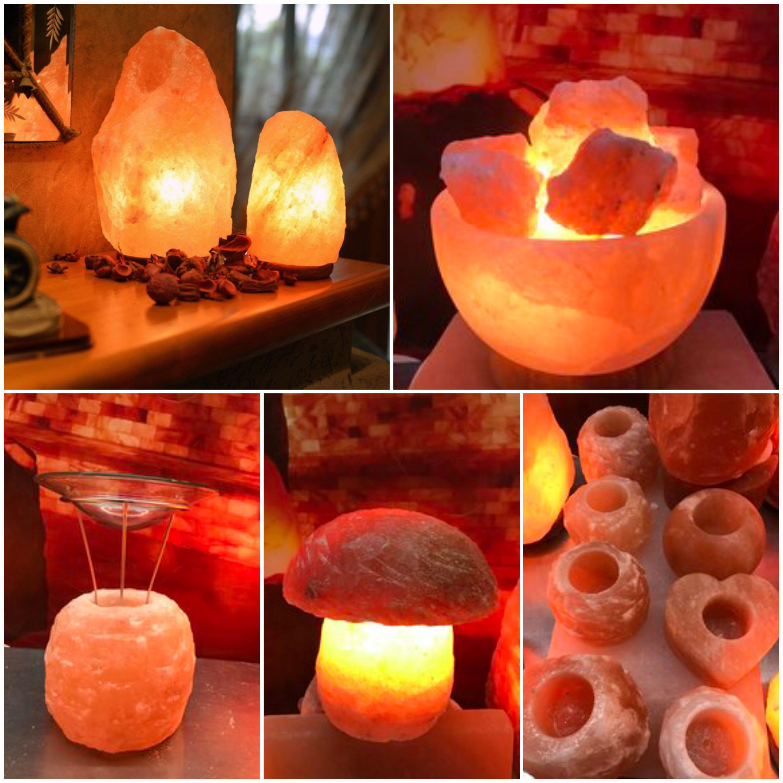 Красив, оригинален и полезен подарък от СОЛНА СТАЯ ДЪРВЕНИЦА - Лампи и свещници от хималайска сол за всеки дом или работно място.