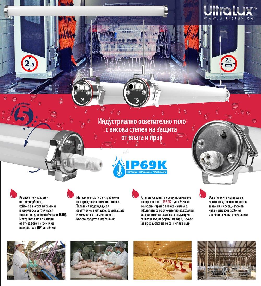LED индустриални тела с висока степен на защита IP69